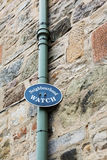 Sign for neighbourhood watch in Great Britain Royalty Free Stock Photos