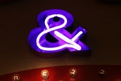 And sign neon lights Stock Photos