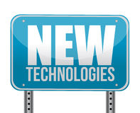 Sign with a new technologies concept Royalty Free Stock Images