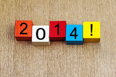 2014 - sign for the new year. Calendar date in numbers royalty free stock photo