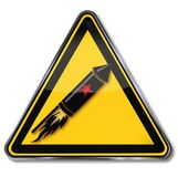 New year`s missile. Sign with new year`s missile Stock Images