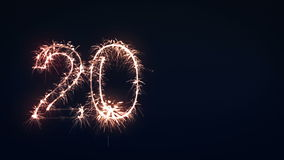 2012 Sign, New Year Sparkler stock footage