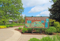 Sign for the Niagara Parks Botanical Gardens & School of Horticu Royalty Free Stock Image