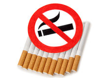 Sign of nicotine Stock Photo