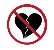Sign - no broken hearts Stock Images