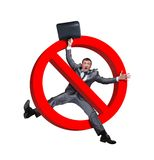 Sign no businessman on white Royalty Free Stock Photos