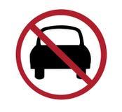 Sign - no cars Stock Photos