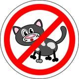 Sign no cats Royalty Free Stock Photos