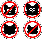 Sign no cats Royalty Free Stock Photo