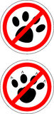 Sign no cats and dog Royalty Free Stock Images