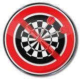 Sign no darts Stock Photography