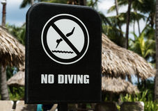 Sign NO DIVING Stock Photos