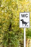 Sign No Dog Poop in a park. Luxembourg royalty free stock photo