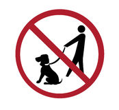 Sign - no dog walking Stock Image
