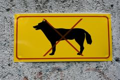 Sign no dogs Royalty Free Stock Photo