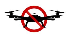 Sign: No drone zone! Royalty Free Stock Photos