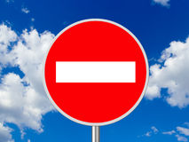 Sign No Entry stock illustration
