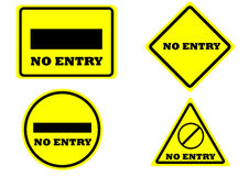 Sign no entry isolated Stock Photography