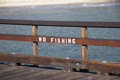 Sign NO FISHING Royalty Free Stock Photography