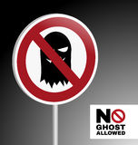 Sign no ghost allowed Stock Images
