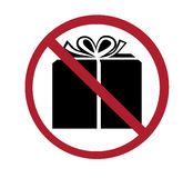 Sign - no gifts Royalty Free Stock Photo