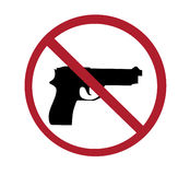 Sign - no guns Stock Images