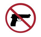 Sign - no guns Stock Images
