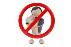Sign no ice cream Stock Photo
