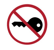 Sign - no key, turn off engine Royalty Free Stock Photography