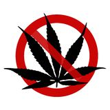 Sign: No Marihuana, here! Royalty Free Stock Photo