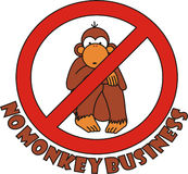 Sign no monkey business Royalty Free Stock Photos
