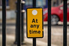 Sign: No parking at any time royalty free stock photo