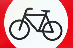 Sign no parking bicycle Stock Photo