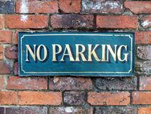 Sign. No Parking. No parking sign Royalty Free Stock Image