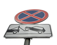 Sign no Parking Royalty Free Stock Photo