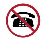 Sign - no phones Royalty Free Stock Photography