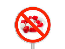 Sign No pills Royalty Free Stock Photography