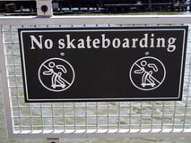 Sign no skateboarding Stock Photo
