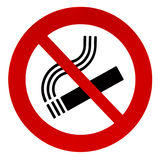 Sign no smoking. Isolated on a white background Stock Image
