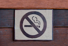 The Sign of no smoking Stock Photo