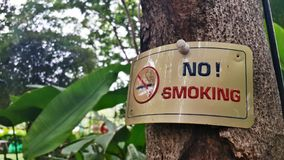 Sign NO! SMOKING Royalty Free Stock Images