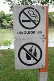 Sign No smoking & drinking Stock Images