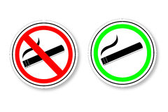Sign - No Smoking and Smoking Area Royalty Free Stock Photography