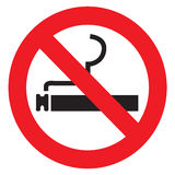 Sign no Smoking in Vector Royalty Free Stock Photo