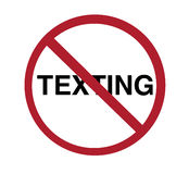Sign - no texting Stock Image