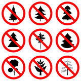 Sign no trees vector Royalty Free Stock Image