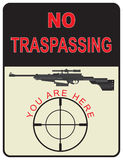Sign No Trespassing Stock Images