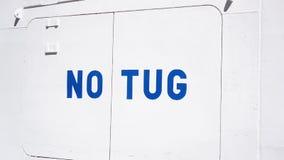 Sign NO TUG Royalty Free Stock Image