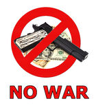 Sign no war Royalty Free Stock Photo