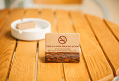 Sign for non-smoking room Royalty Free Stock Photo